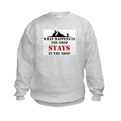 What Happens In The Shop Kids Sweatshirt