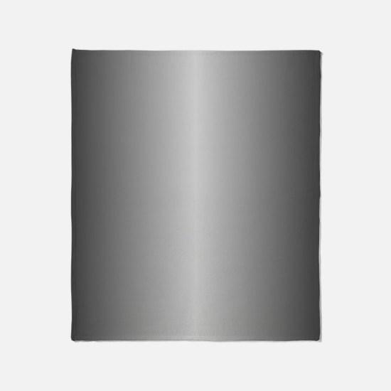 Grey Metallic Shiny Throw Blanket