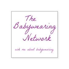 "Babywearing Network Logo wh Square Sticker 3"" x 3"""