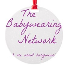 Babywearing Network Logo white Ornament