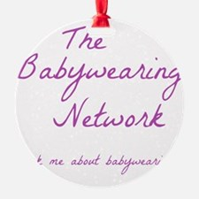 Babywearing Network Logo white Ornament