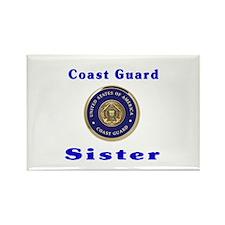 coast guard sister Rectangle Magnet