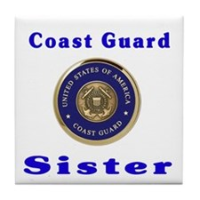 coast guard sister Tile Coaster
