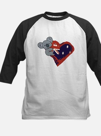 Love Australia - Koala Heart Baseball Jersey