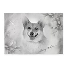 Be my Valentine Corgi 5'x7'Area Rug