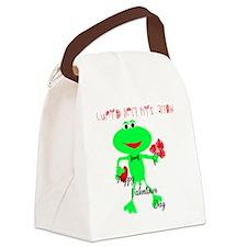 ValentinesToad Canvas Lunch Bag