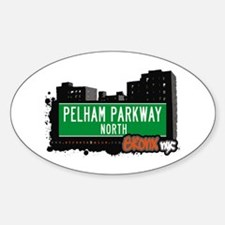 Pelham Parkway North, Bronx, NYC Oval Decal