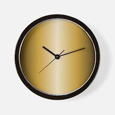 Gold Shiny Metallic Wall Clock
