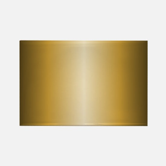 Gold Shiny Metallic Rectangle Magnet