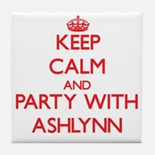 Keep Calm and Party with Ashlynn Tile Coaster