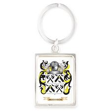 Maddison Coat of Arms - Family C Portrait Keychain