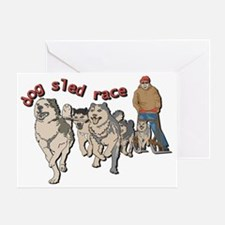 Dog sled race Greeting Card
