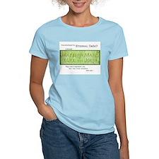 """""""Debt Consultants"""" Women's Pink T-Shirt"""