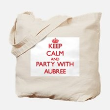 Keep Calm and Party with Aubree Tote Bag