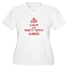 Keep Calm and Party with Aubree Plus Size T-Shirt