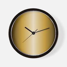 Gold Metallic Shiny Wall Clock