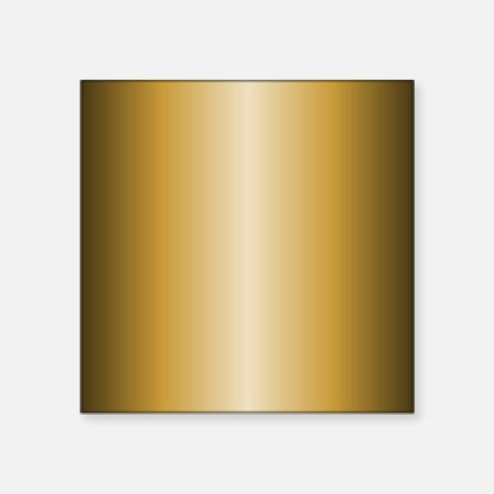"Gold Metallic Shiny Square Sticker 3"" x 3"""