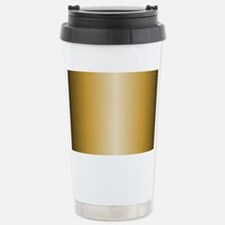 Gold Metallic Shiny Stainless Steel Travel Mug