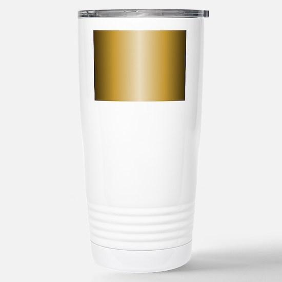 Gold Metallic Shiny Stainless Steel Travel Mug