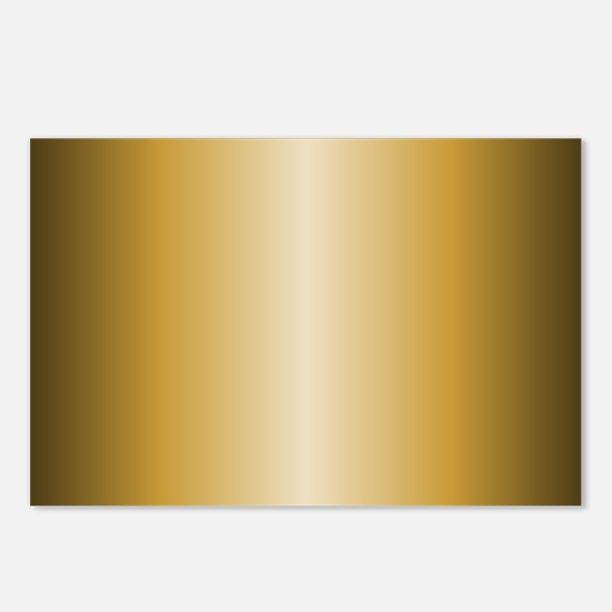 Gold Metallic Shiny Postcards (Package of 8)