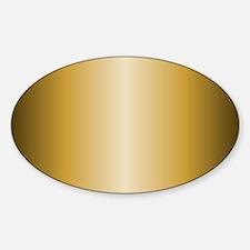 Gold Metallic Shiny Decal