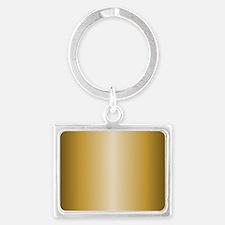 Gold Metallic Shiny Landscape Keychain