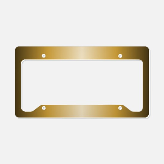 Gold Metallic Shiny License Plate Holder