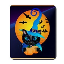 Pillow-Blue Witch Kitty -Harvest Moon Mousepad