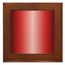 Red Metallic Shiny Framed Tile