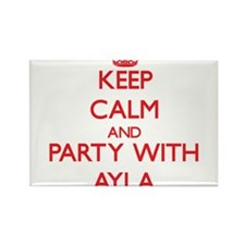 Keep Calm and Party with Ayla Magnets