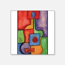 Colorful Guitar Rectangle Sticker
