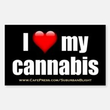 """Love My Cannabis"" Decal"