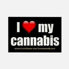 """""""Love My Cannabis"""" Rectangle Magnet"""