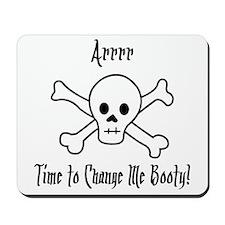 Pirate Diaper Booty Mousepad