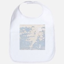 Baby Blue Chipped Paint Wooden Texture Bib
