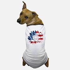 Patriotic Sunflower Dog T-Shirt