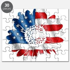 Patriotic Sunflower Puzzle