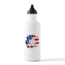 Patriotic Sunflower Water Bottle