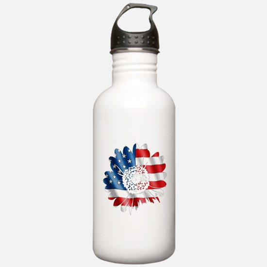 Patriotic Sunflower Water Bottle