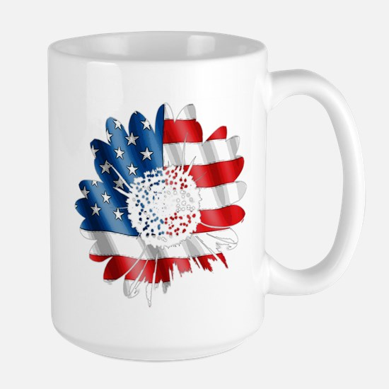 Patriotic Sunflower Large Mug