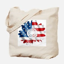 Patriotic Sunflower Tote Bag