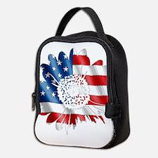 Patriotic Sunflower Neoprene Lunch Bag