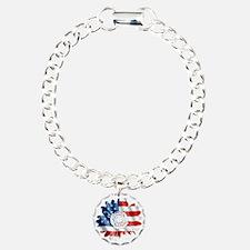 Patriotic Sunflower Bracelet