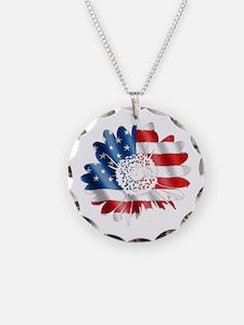 Patriotic Sunflower Necklace