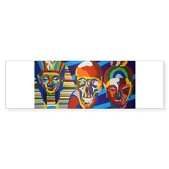 Death Masks Bumper Bumper Sticker