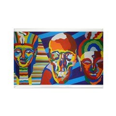 Death Masks Rectangle Magnet (100 pack)
