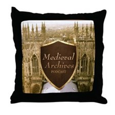 Medieval Archives Podcast Throw Pillow
