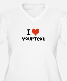 CUSTOMIZE I heart Plus Size T-Shirt