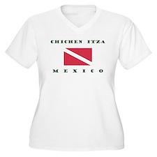 Chichen Itza Mexico Scuba Plus Size T-Shirt