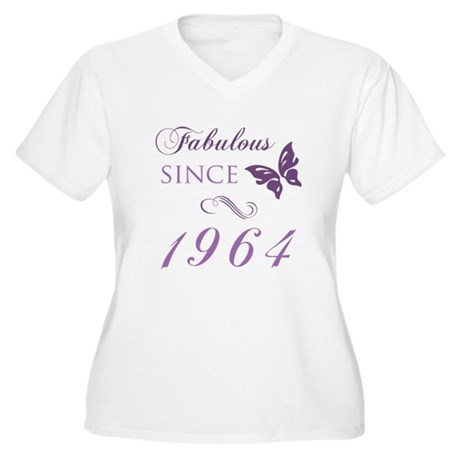 Fabulous Since 1964 Women's Plus Size V-Neck T-Shi